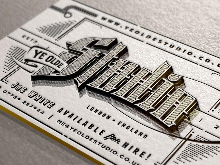 Ye Olde Studio Cards by Joe White (via Creattica)