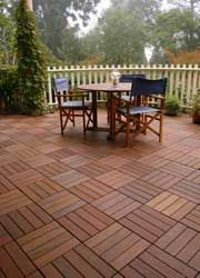 wood composite patio pavers can go over an existing concrete patio - Patio Refinishing Ideas
