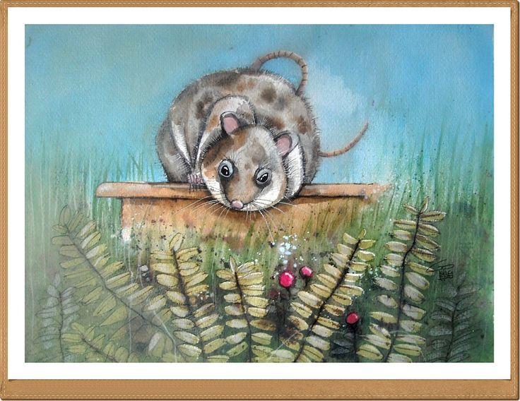 Topo - Mouse - Gianluigi Punzo - Naples - Napoli - Italy - Italia - Watercolor - Acquerello - Aquarelle - Acuarela