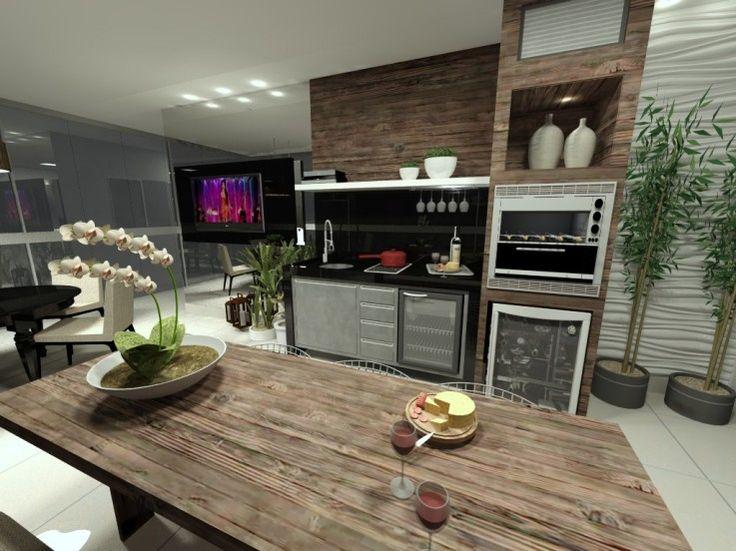 churrasqueira elétrica+ adega +mini geladeira+ cooktop dominó+tv+ mesa de refeição + mesa de jogos