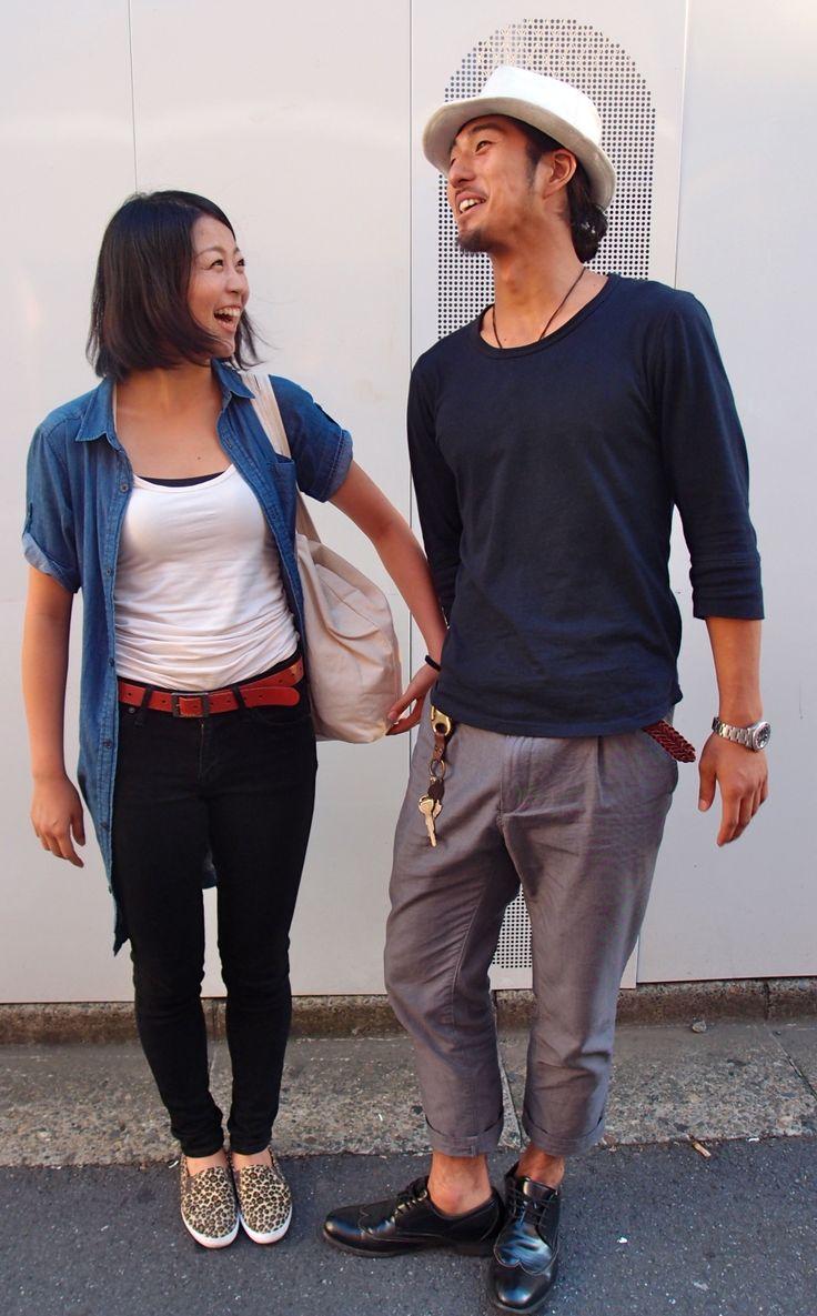 シンプルおしゃれなカップル。Fashion Flight: Snap of cute couples in Shimokitazawa! 下北沢で、カップルスナップ!