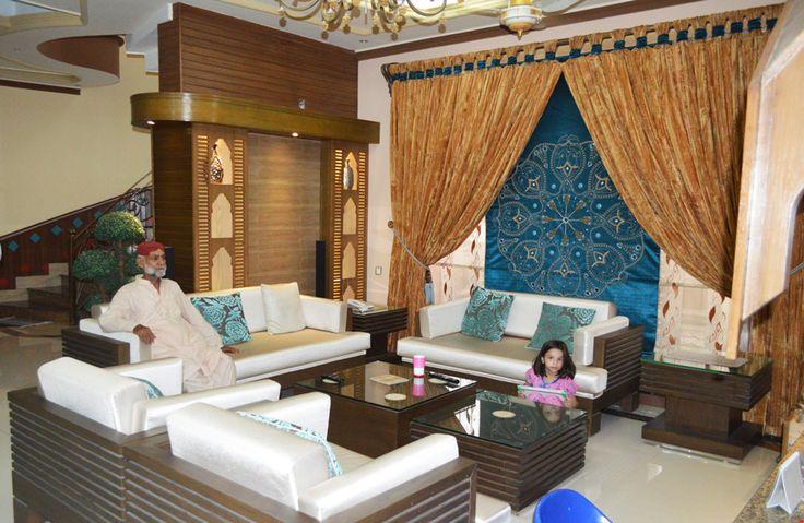 Pakistani home design, TV Lounge design idea.