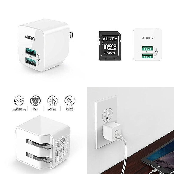 Iphone X Usb Wall Charger-Ultra Compact Dual Port 2.4A Output &Amp/Foldable Plug #DealsToday