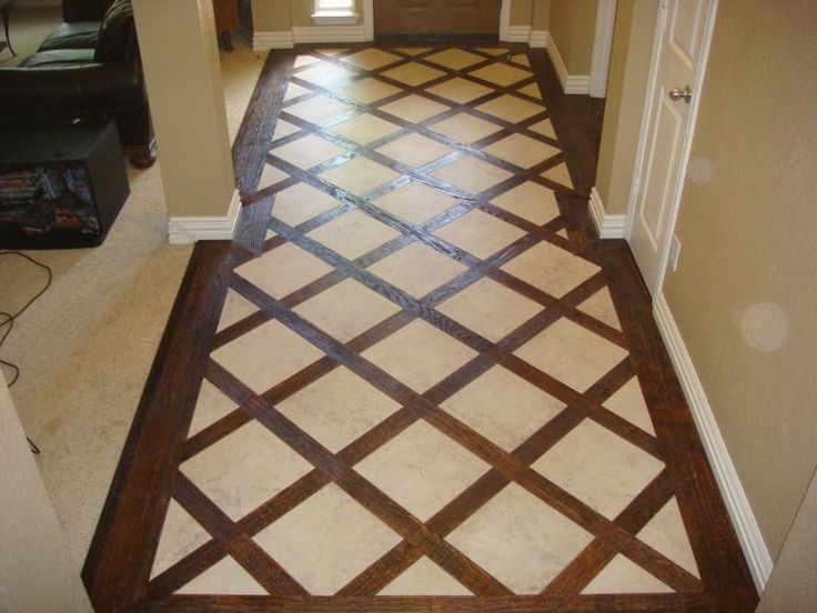 Lovely Wood And Tile Combo Pattern