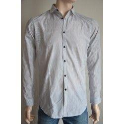 Next pánská košile, dlouhý rukáv černo bílé proužky 38 cm