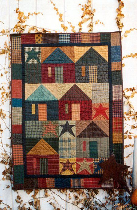 Country Threads :: House Quilt Patterns :: Great American Village Wall Quilt Pattern