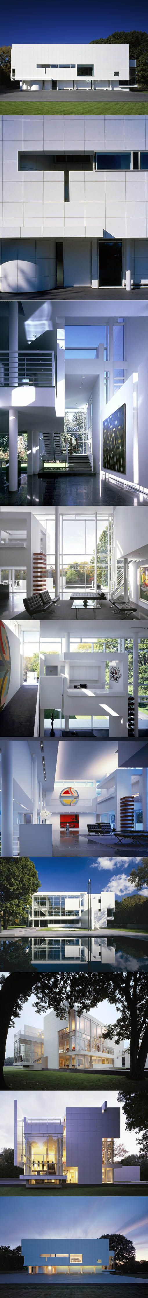 1991-1996 Richard Meier - Rachofsky House / Dallas Texas USA / aluminium / white