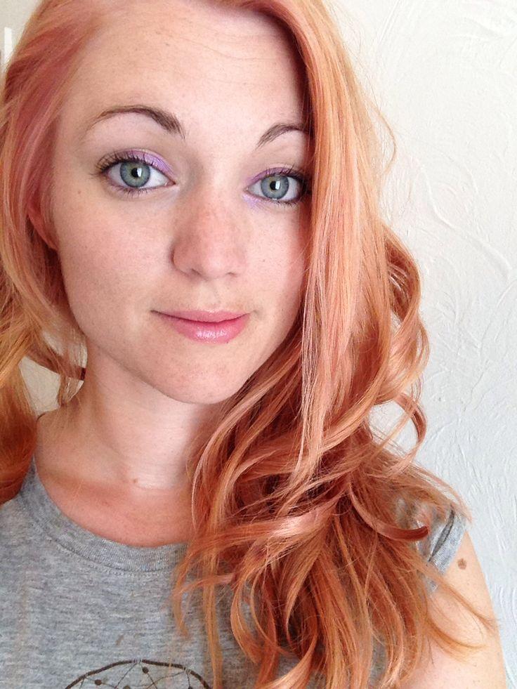 Ginger To Rose Gold Hair I Used Schwarzkopf Lightener