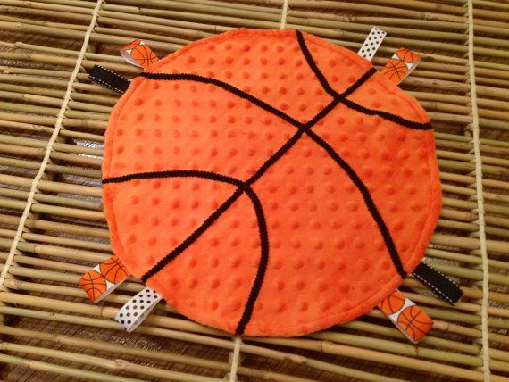 Basketball baby taggie lovey blanket on Etsy, $10.00 Noah christmas