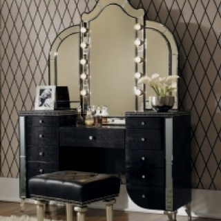 Rhinestone embellished vanity
