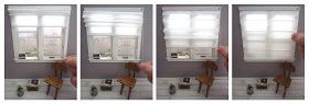 Fabulously  Small: tutorial of working Roman blinds - it's much easier than you think!