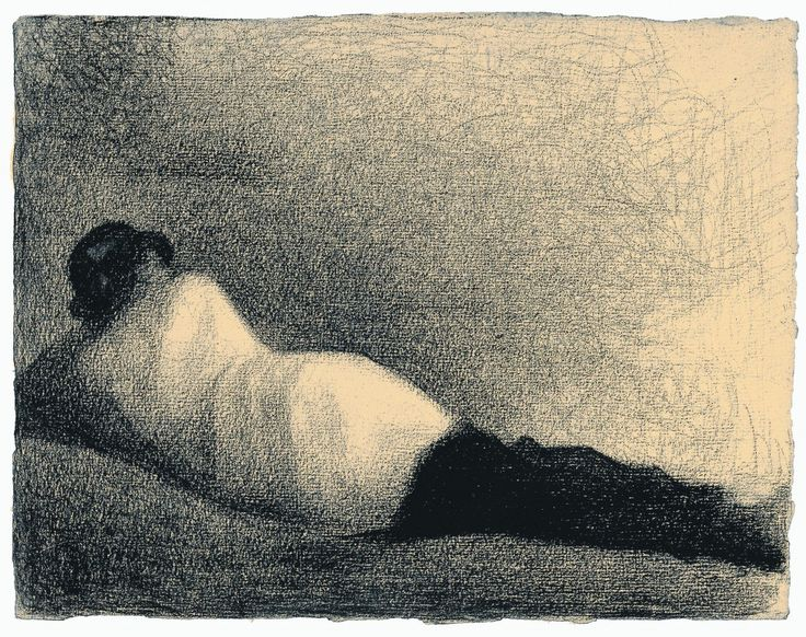 Seurat- he was an amazing master of lines- he never just shaded, all of his drawings are built up of individual lines.