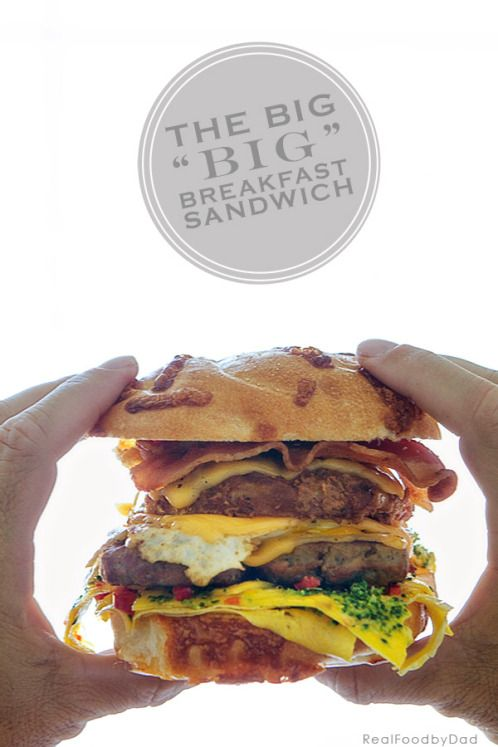 We call this the game day #manwich yum! The Big Breakfast Sandwich via Real Food by Dad @realfoodbydad