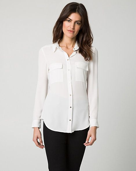 Crêpe+de+Chine+Button-Front+Blouse
