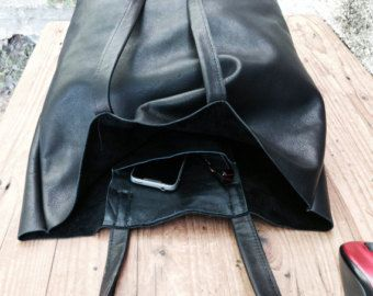 Sale!!! Slouchy leather bag, supple black leather tote, Large Black Leather Tote Bag, Leather hobo bag by limorgalili. Explore more products on http://limorgalili.etsy.com