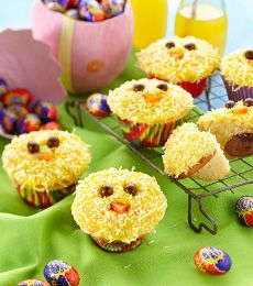 Everyone will go cuckoo for these adorable #cupcakes! Bake them yourself for a 'WOW' #Easter #dessert. #baking To view the #CADBURY product featured in this recipe visit https://www.cadburykitchen.com.au/products/view/cadbury-melts/