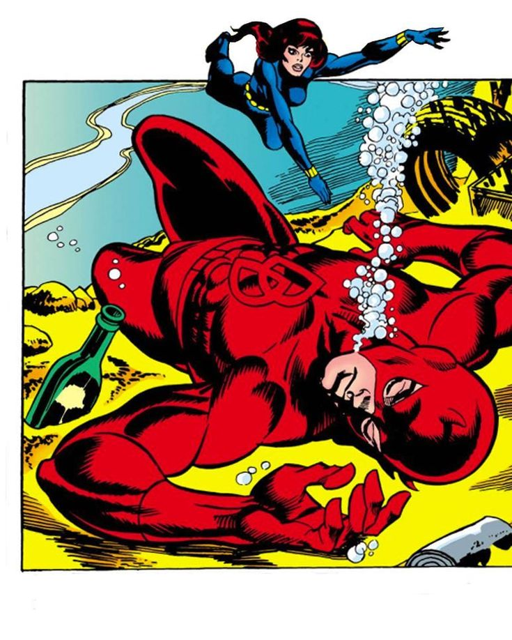 THE KLINE SAGA (1971-1972) Daredevil's so good at picking up chicks, he can do it with his eyes shut. While he's drowning. And wearing a Catwoman mask. --- Artists: #GilKane & #FrankGiacoia From: Daredevil 81 Featuring: #BlackWidow #Daredevil --- Is DD just drowning his sorrows or is he just tyre'd? And how did he hook up with the Black Widow? Hit the link in my bio to find out! --- #KlineSaga #MattMurdock #Avengers #Marvel #MarvelComics #MarvelUniverse