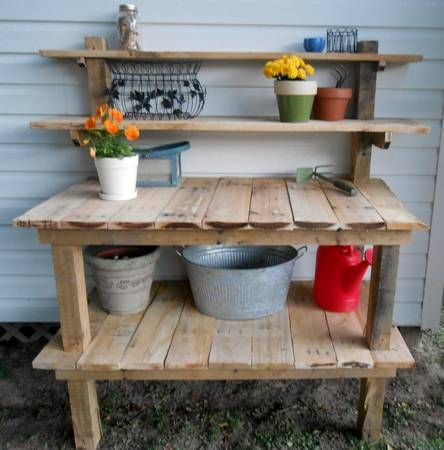 Gardening Work Bench Made From Pallets