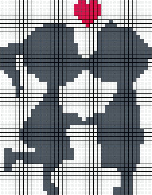Kiss love perler bead pattern