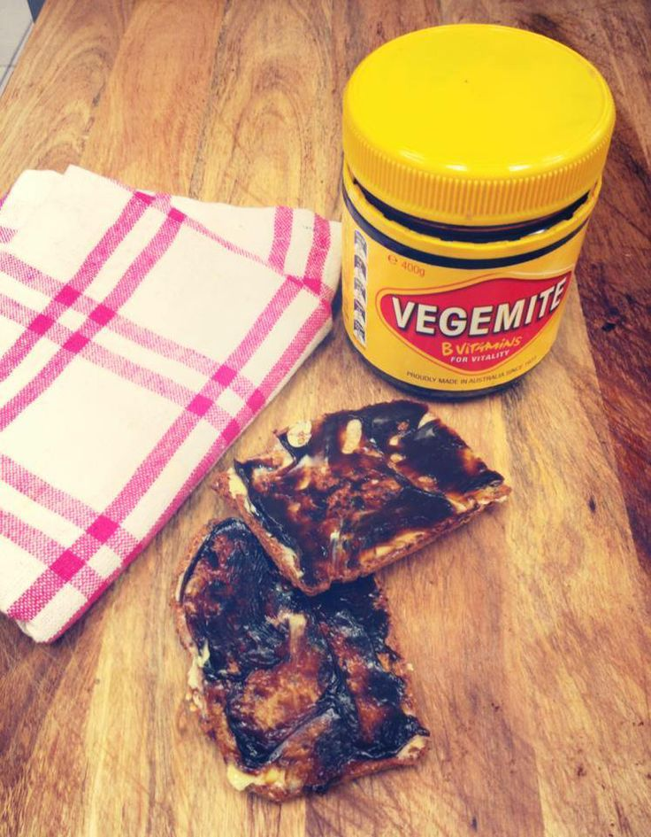 """Had a few too many wines last night? Crispy Protein Bread with Vegemite is an amazing """"Fix"""" - high protein, good fats and lots of B Vitamins to get you back on track!!"""