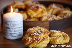 Safranknuter med smør- og vaniljefyll | Det søte liv