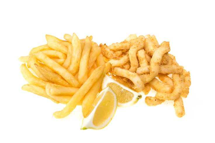 Calamari strips full portion with chips R29. The Fish & Chip Co - 014 537 2670