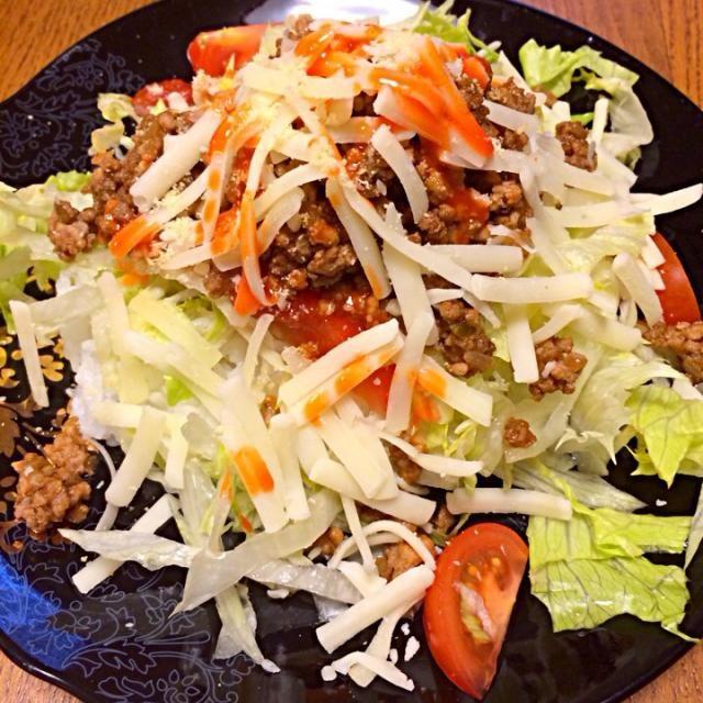 久々にタコライスつくりました〜! やっぱり美味しい! - 77件のもぐもぐ - 沖縄「ピロピロ」ライフさんの料理 タコライス by tetsu0225