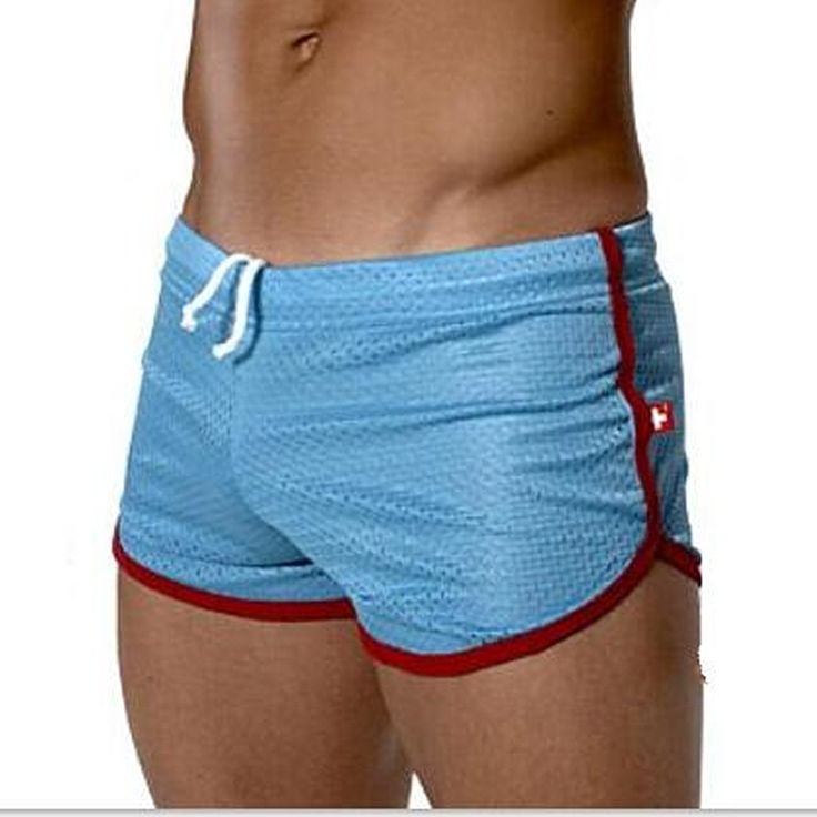 Men Casual  shorts clothes mens home  short underclothes gay man sexy double net Casual Shorts