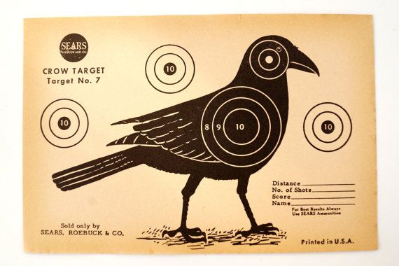 Vintage Sears Crow Target  No. 7 Paper Shooting Target c.1950s (9 x 6 inches) - Collectible, Home Decor, Paper Projects, and more on Etsy, £3.74