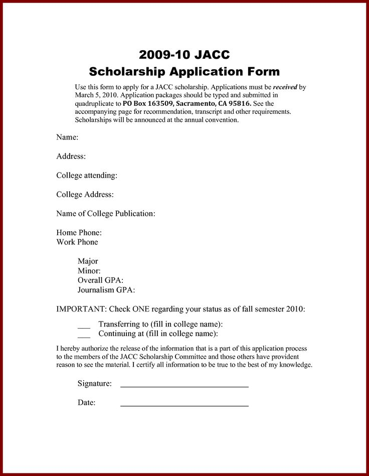 Scholarship Letters | Sample Letters