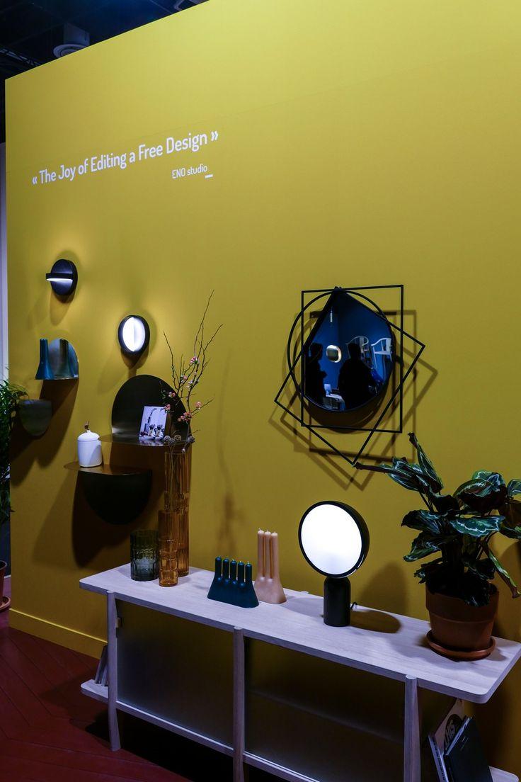 Eno Studio zeigte ein paar interessante Accessories, Spiegel und Leuchte auf der Kölner Möbelmesse...