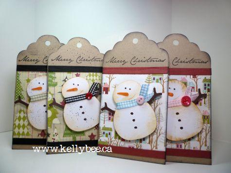 Snowman Christmas Tags - supercute