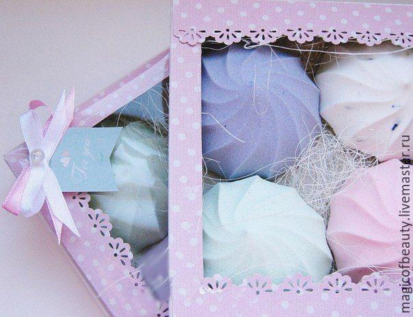 """Купить Сувенирное мыло """"ЗЕФИР"""" - зефирка, зефир, мыло сладости, подарок для…"""