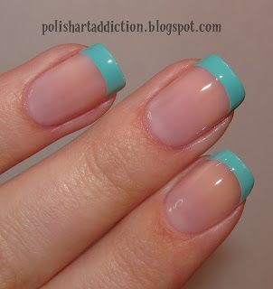 Nail || Turquoise French                                                                                                                                                                                 More