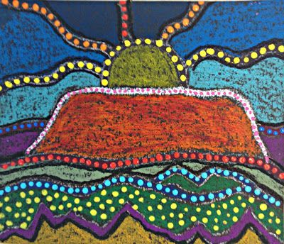 4th grade         2nd grade       1st grade       1st grade  reminds me of a stage with lights       Kinder     These mixed media pai...