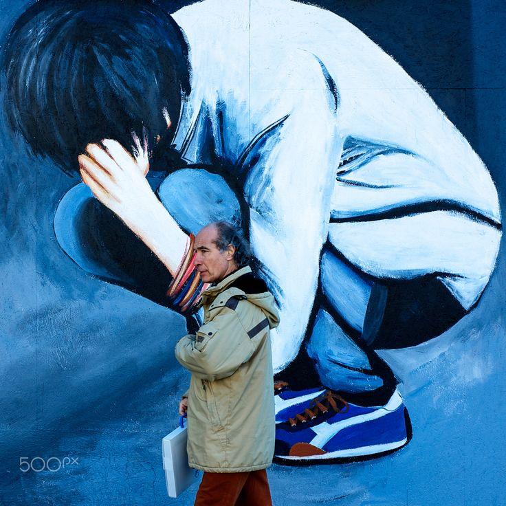 Peinture murale à Florence - Street art in Florence © Hubert Toubiana