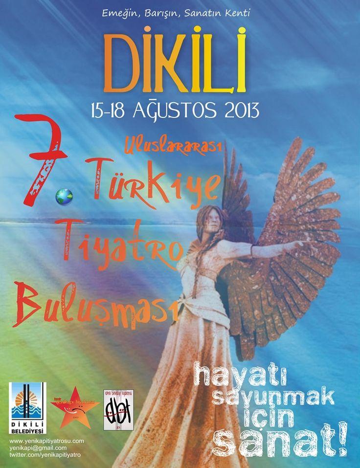 Ağustos 2013 - 7. Türkiye Tiyatro Buluşması için tasarladığım afiş. Heykel figürü fikri Orçun Masatçı'ya aittir.