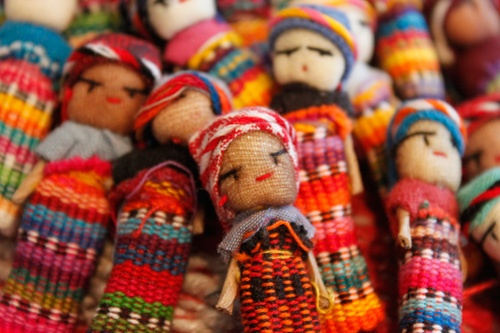 Munecas quitapenas (worry dolls): Children whisper their worries to their doll and the dolls take care of the rest.