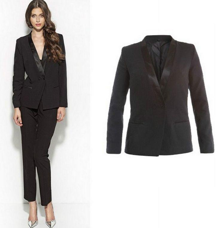 15 pingles veste smoking femme incontournables vestes. Black Bedroom Furniture Sets. Home Design Ideas