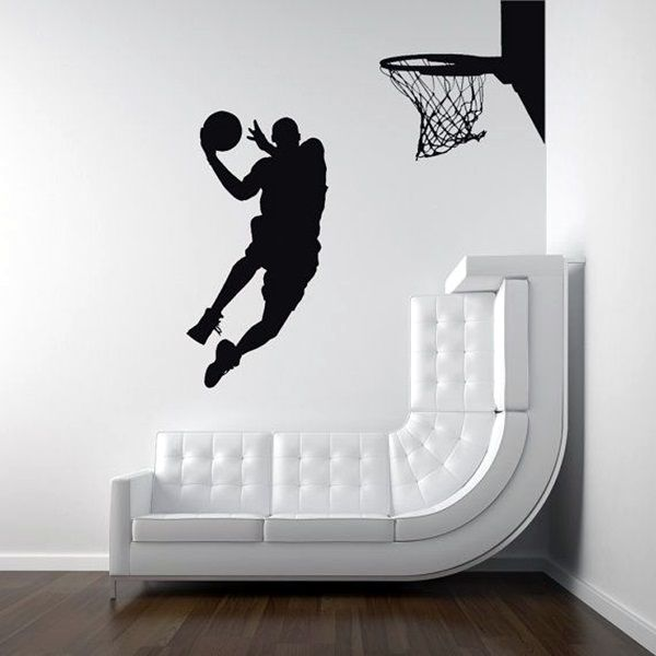 40 Easy Wall Art Ideas To Decorate Your Home Basketball Wall Kid Room Decor Kids Bedroom Decor