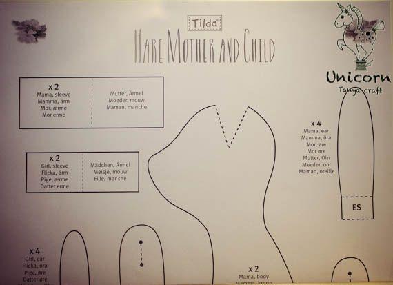 Unicorn: Tilda Hare Mother and Child / Заяц Мать и дитя. Мастер класс Ч.1
