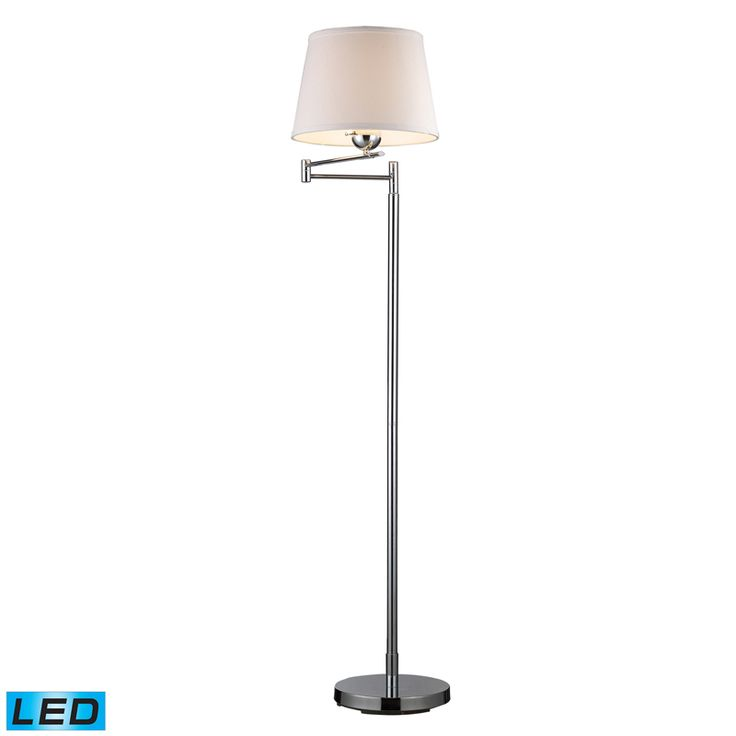 This sleek simple yet beautiful swing arm floor lamp will let you to read or relax in style its classical design and chrome polish will blend