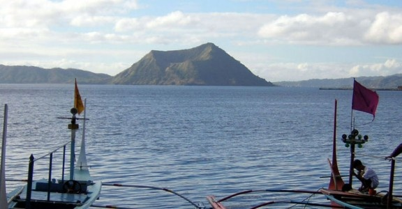 Taal Volcano in the Philippine Islands