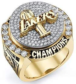 Kobe Bryant 2009-2010 Championship Ring; Lakers over Boston.