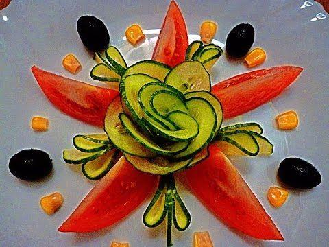Цветок из огурца! Роза! Flower of cucumber! Rose! - YouTube