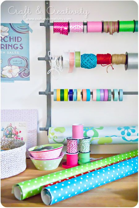 love this idea for all things on a spool