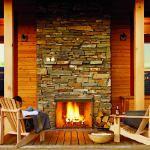 Fireplace on porch!