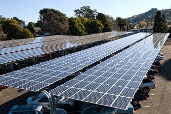 Solar power car parking.