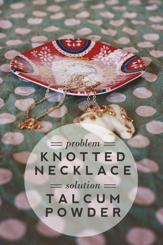 tip: remove knots in necklaces
