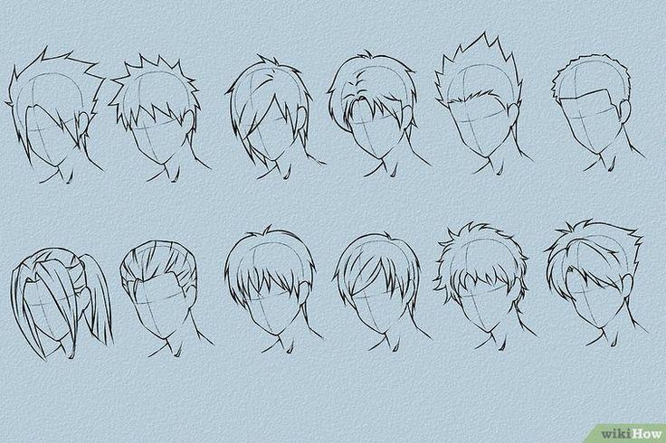 Anime Haare zeichnen